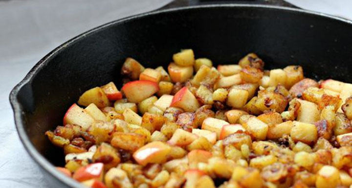 paleo recipes, paleo diet, Paleo Caramelized Potato Apple Hash, potato apple hash